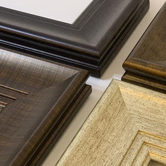 four wooden frames
